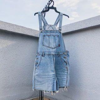 🚚 denim pigtail overalls