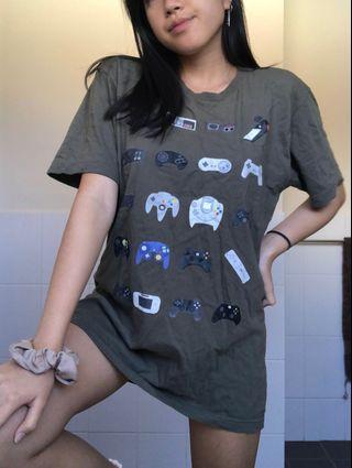 Oversized Khaki Retro Shirt