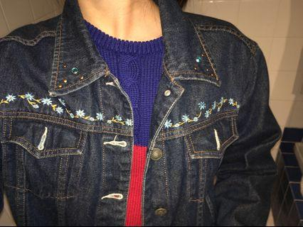 Vintage Denim Jacket with patches/embroidery