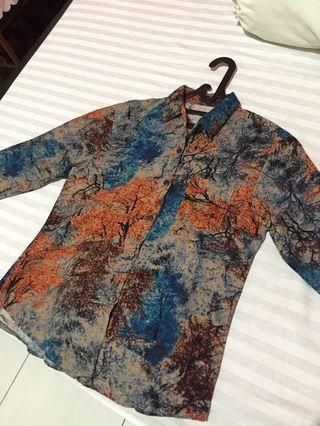 Abstract Patterned Tops-Long Sleeve