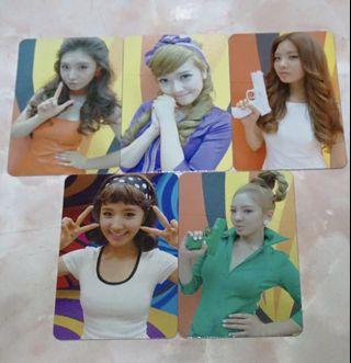 Snsd girls generation hoot photocard yuri seohyun jessica hyoyeon korea kpop