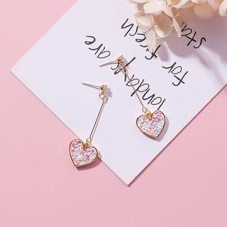 🚚 Heart dangle earring (korean)