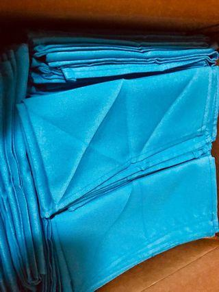 Turquoise table napkins