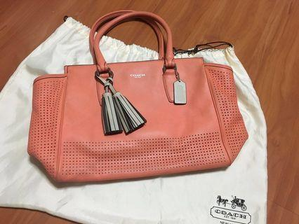 Coach Leather bag with Tassel
