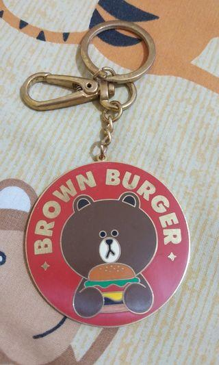 Gantungan Kunci Brown (Ori line friends HARAJUKU JEPANG)