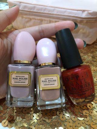 O.P.I nail lacquer 15ml & miniso nail polish take all