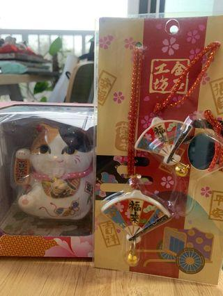 Fortune Cat with free gift