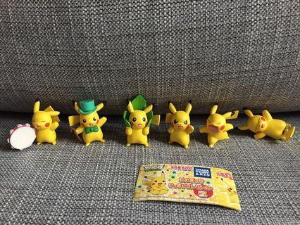 Japan Nintendo Pokemon Figure Full Set 寵物小精靈 比卡超 公仔