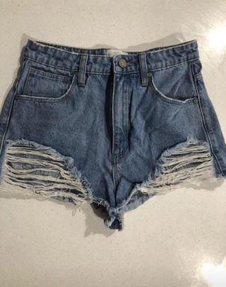 A Brand Denim Shorts Size 8