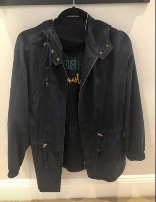 Vintage Burberry Navy Blue Parka Jacket