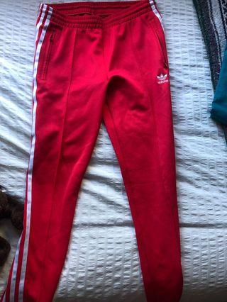 ADIDAS RED TRACKIES