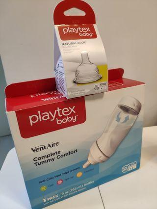 Playtex 奶樽(連3個奶咀+1個全新奶咀)