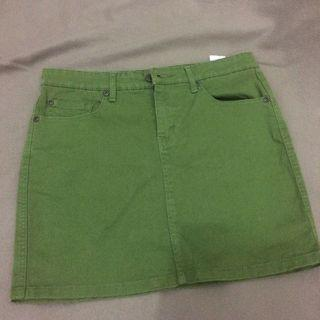 hush puppies skirt army green size 26 (M)