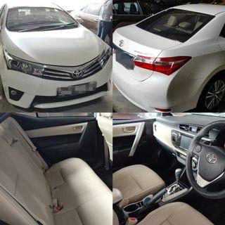 New Toyota Altis for rent/LTO
