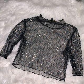 Sparkly see through top