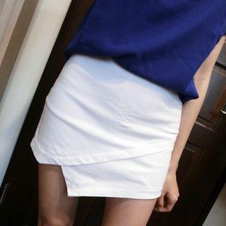 🚚 全新🔥白色側拉鍊短褲裙