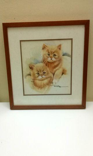 Cat Hand Painting Wall Decor