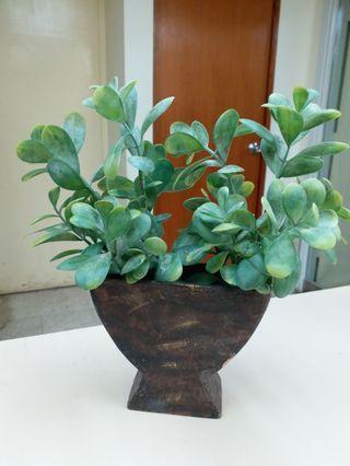 塑膠植物連盆