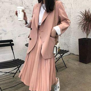 🚚 韓版粉嫩色系西裝套裝-兩件式