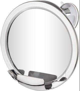 (A131) Gotofine Fogless Shower Mirror with Advanced Locking Suction, 360 Degree Rotation for Easy Shaving Mirrors Viewing