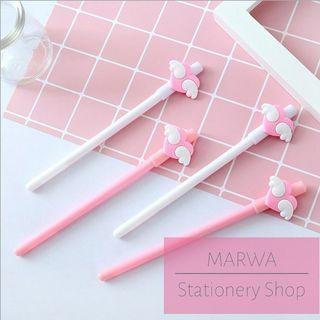 Pink Hearts With Wings Cute Pen (Tip 0.5mm) (CP020-P052)