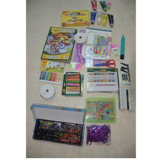Art and craft supplies and carry tub