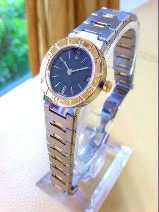 Bvlgari 18k Gold & Steel 26mm Quartz Ladies Full Set