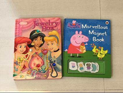 PL Bundle Princess & Peppa Magnet Book Free Usborne