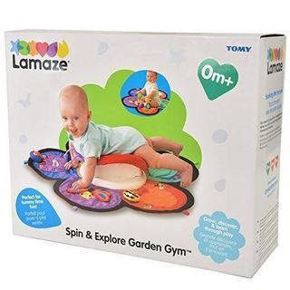 Lamaze Spin & Explore Garden Baby Gym Play Mat