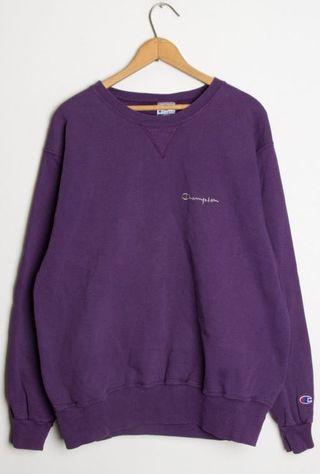 purple champion pullover
