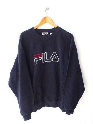 navy fila pullover