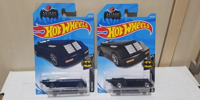 Hotwheels Batman The Animated Series Batmobile Pair BN