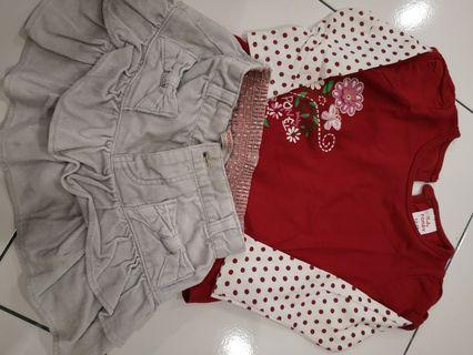5pcs blouse and pants