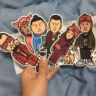 🚚 頑童(MJ116)、熱狗(MC Hotdog)、張震嶽、呆寶靜過年紀念貼紙