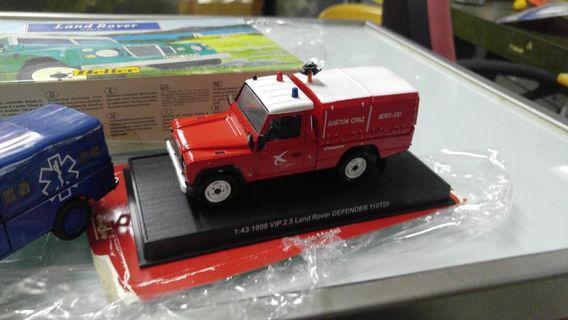 1/43 Land rover 模型 (相中4架)