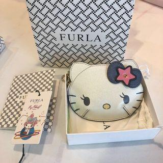 Authentic Limited Edition Furla hello kitty coin pouch