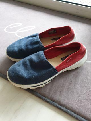 Skechers women GO WALK blue and red