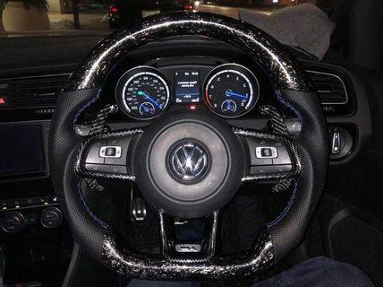 Carbon fiber steering wheel modification (no trade in required)