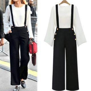 [Pre-Order] Women's Summer Solid Sleeveless Full-Length High Waist Jumpsuits