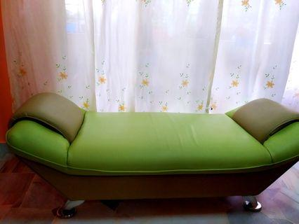Leatherette Lounge Bench