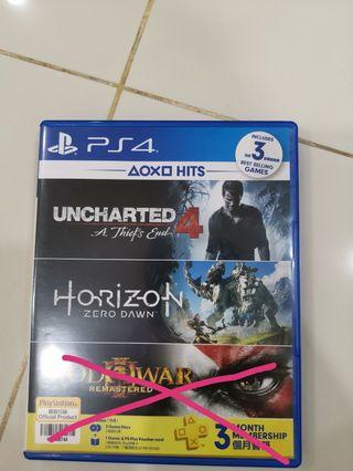 PS4 uncharted 4 and horizon zero Dawn