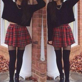Japanese Checkered Skirt