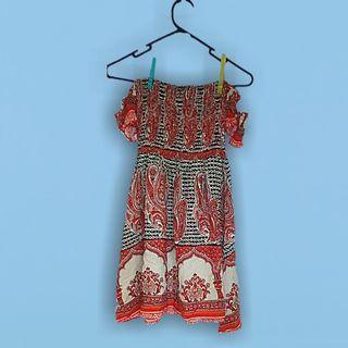 Angel Biba boho hippt off ahoulder dress size ten