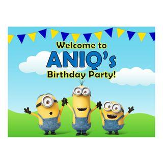 Table Display Signage - Minions