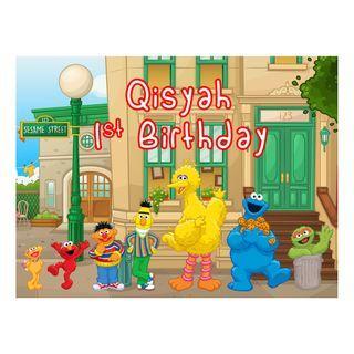 Table DIsplay Signage - Sesame Street