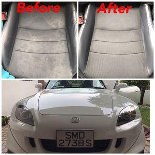 Interior fabric cleaning s2000