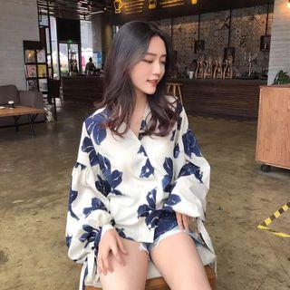 Oversized floral top