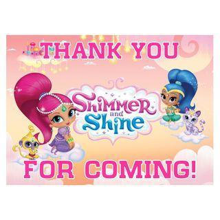 🚚 Table Display Signage - Shimmer & Shine