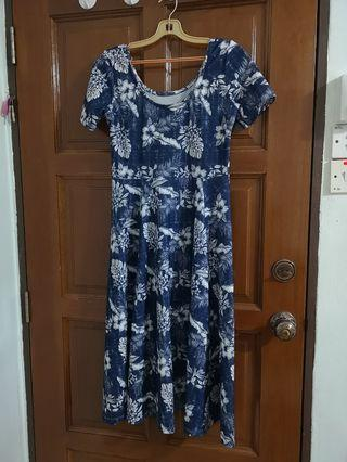 Sweet blue good quality midi dress