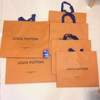 LV名牌紙袋6個